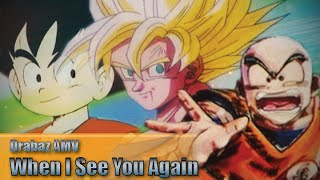 (Goku & Krillin AMV) - When I See You Again - Otakon Best Drama