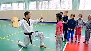 Презентация Тхэквондо в школе №243 / Киев дети