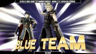 10 Piece & Saint Johns vs Gatlin Sal & Striker - SSC4 - Super Smash Bros. for Wii U