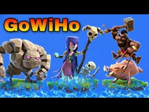 Th9 GoWIHo attack strategy for 3 star ! Clash of clans new goho attack