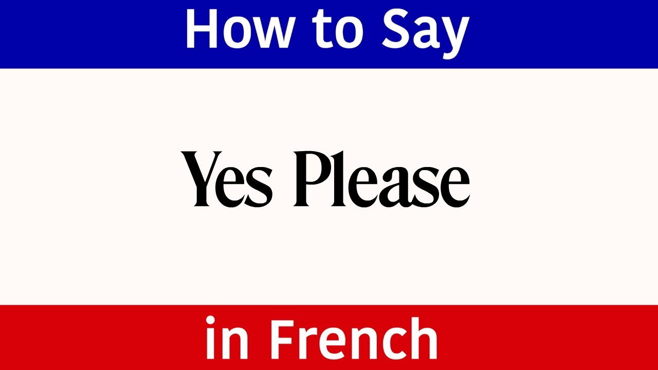How To Say Yes Please In French French Words Phrases Please In Learn French Beginner Learn French French Words