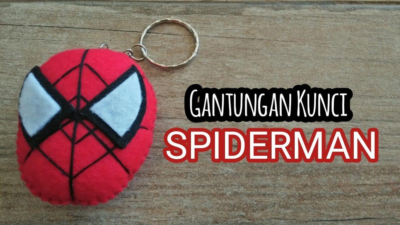 Gantungan Kunci Kepala Spiderman I Tutorial Dari Flanel