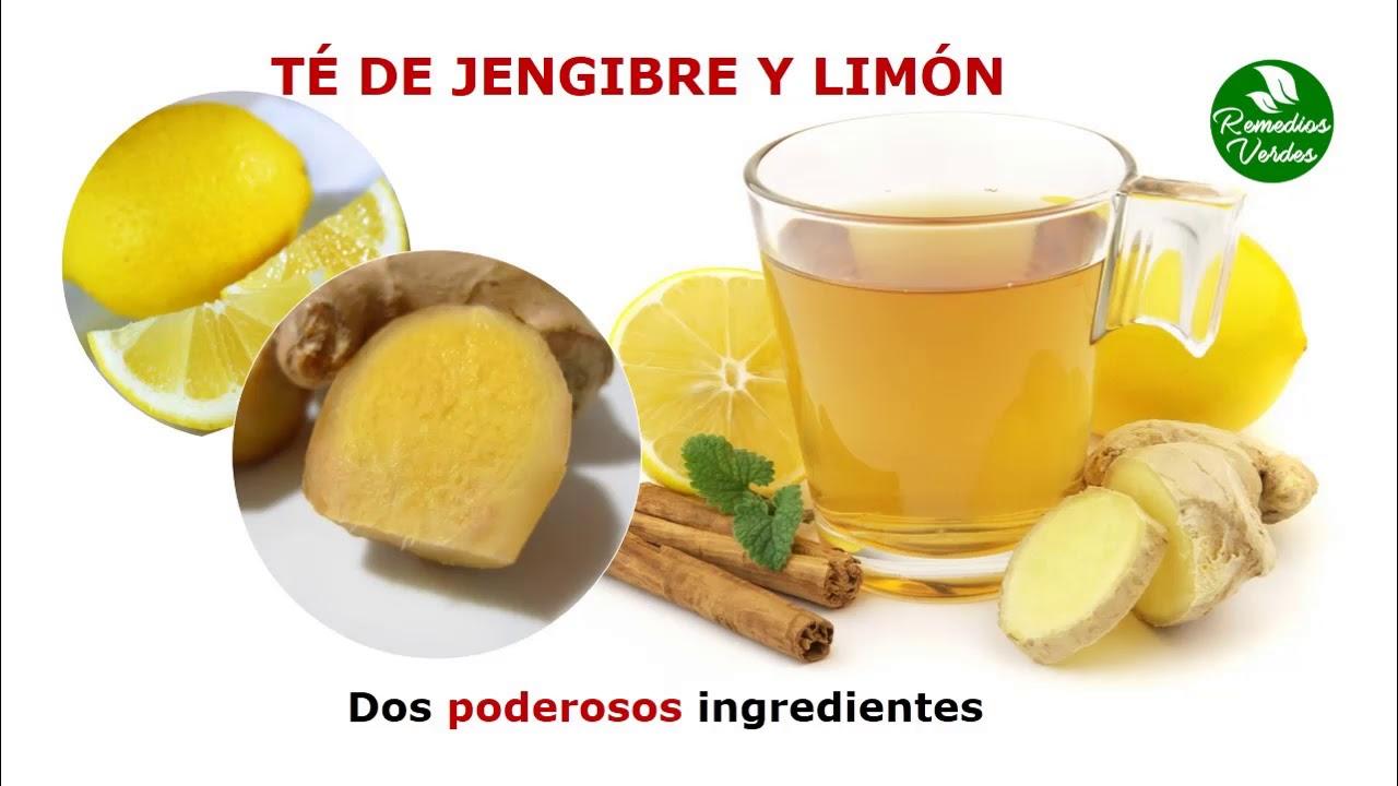 Limon con te la para tos jengibre de