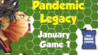 Pandemic Legacy Playthrough: January, Game 1  (SPOILERS)