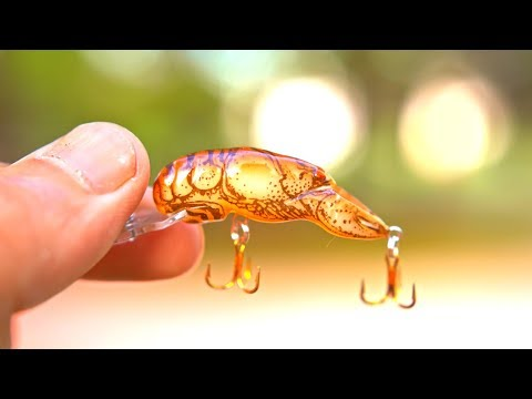 TINY Lure Challenge!!! - Ep.4 (Micro Crawfish?)