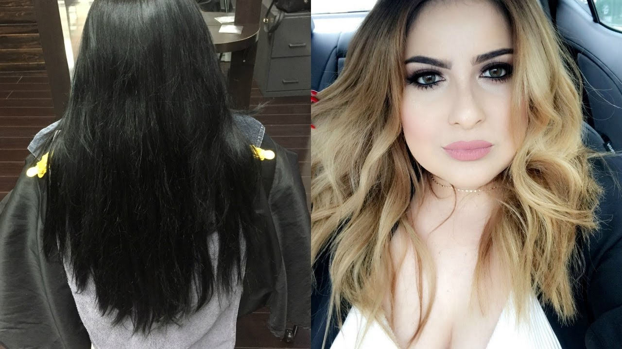 from black to blonde- hair transformation