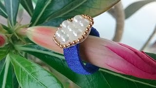 how to make quilling paper finger ring,paper quilling new designs,  party ring with pearls