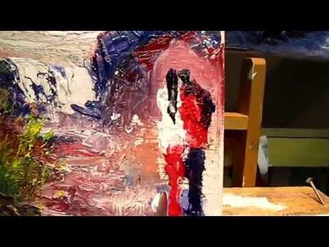Exercice n 6 faire des silhouettes au couteau a la peinture a l huile youtube - Peinture au couteau huile ...