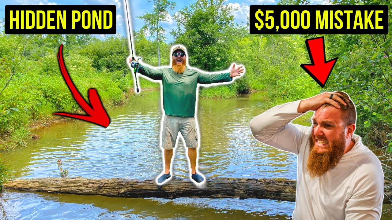 Discovering HIDDEN Pond that's LOADED w/ Fish ($5,000 Mistake!!)