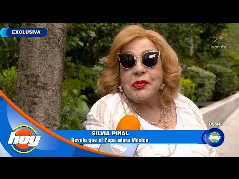 Silvia Pinal conoció al Papa Francisco   Hoy
