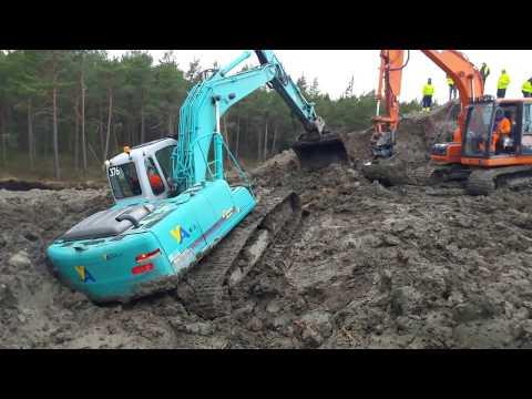Bärgning av grävmaskin (Åkersberga-Stockholm)