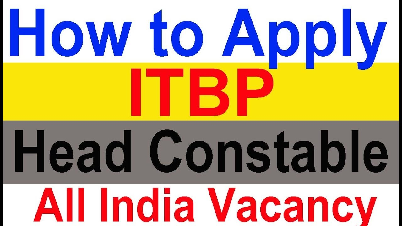 Itbp Head Constable Online Form 2017: Join ITBP Head Constable Apply Online