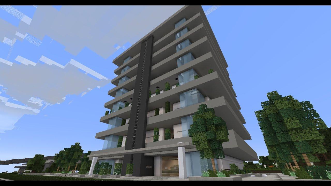 Modern Apartment Building Minecraft minecraft wok showcase - modern apartment building - youtube