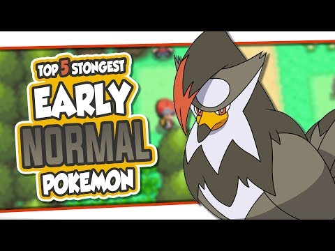 Top 5 Strongest Early Normal Pokemon