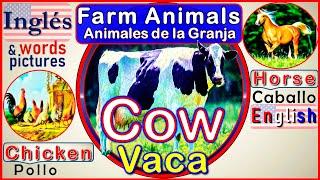 Los Animales de la Granja en Inglés | Farm Animals en Inglés | Vocabulario Básico en Inglés