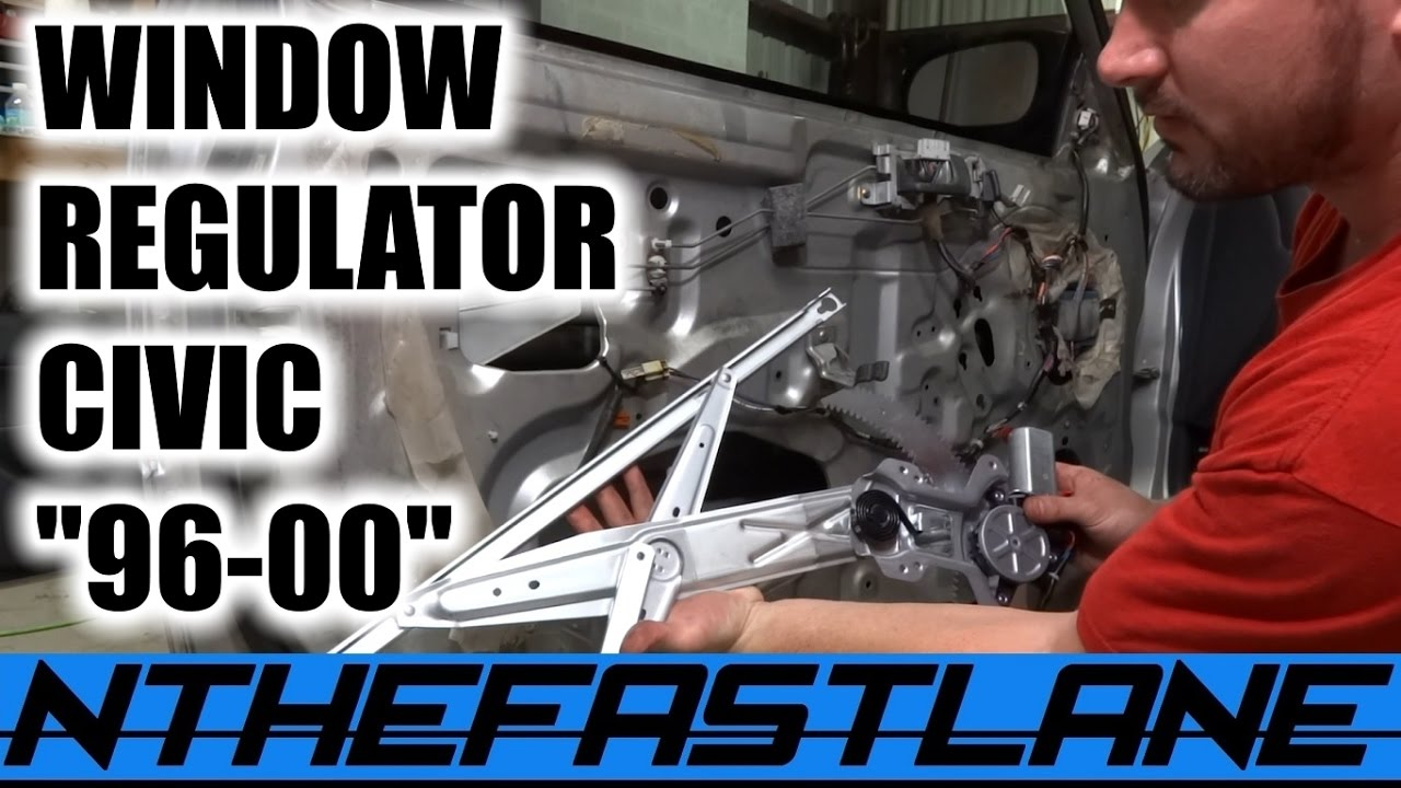 Window Regulator How To Replace Civic Coupe 96 00 Driver Side Youtube