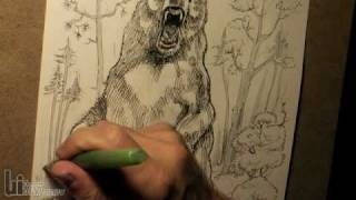 Drawing a Big Roaring Bear