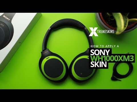 How to apply a Sony WH1000XM3 skin | XtremeSkins - YouTube