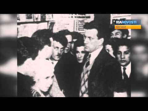 Poet Vladimir Mayakovsky. Archive Footage