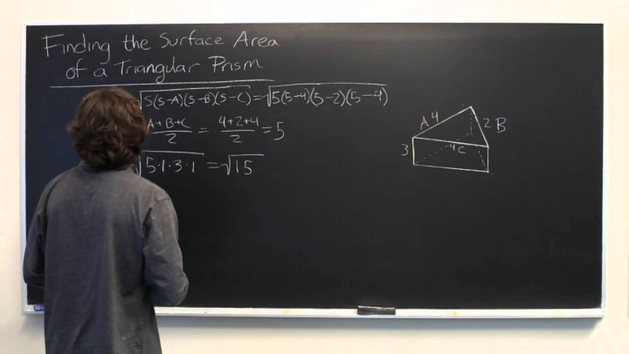 Surface Area Of A Triangular Prism When The Height Of The Triangle Isn't  Given