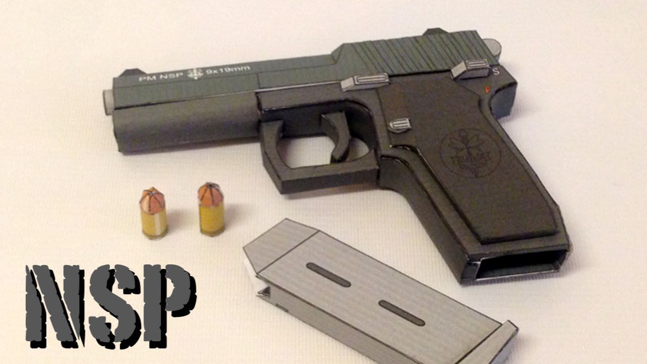 Papercraft Making of PM NSP Papercraft gun - Build Review.