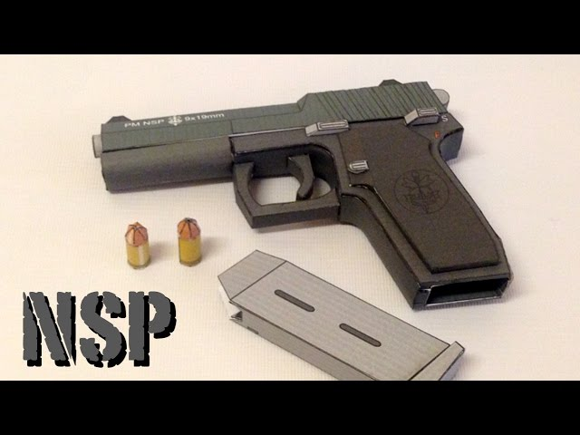Making of PM NSP Papercraft gun - Build Review.