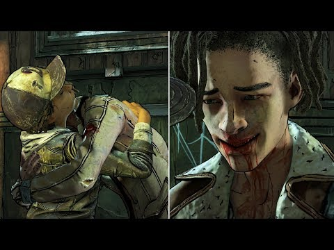 Clementine Saves and Hugs Louis in Prison -All Choices- The Walking Dead The Final Season Episode 3