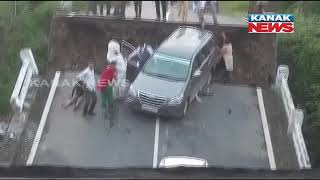 Gujarat: Cars Fall Into River As Bridge Collapses Near Junagadh, Several Injured