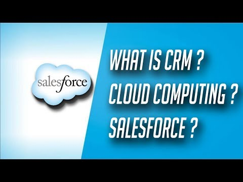 What is salesforce, Cloud Computing and CRM - Salesforce Tutorial in hindi #1