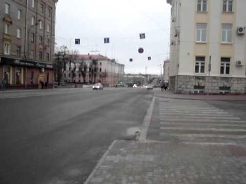Кортеж Зубкова в Брянске