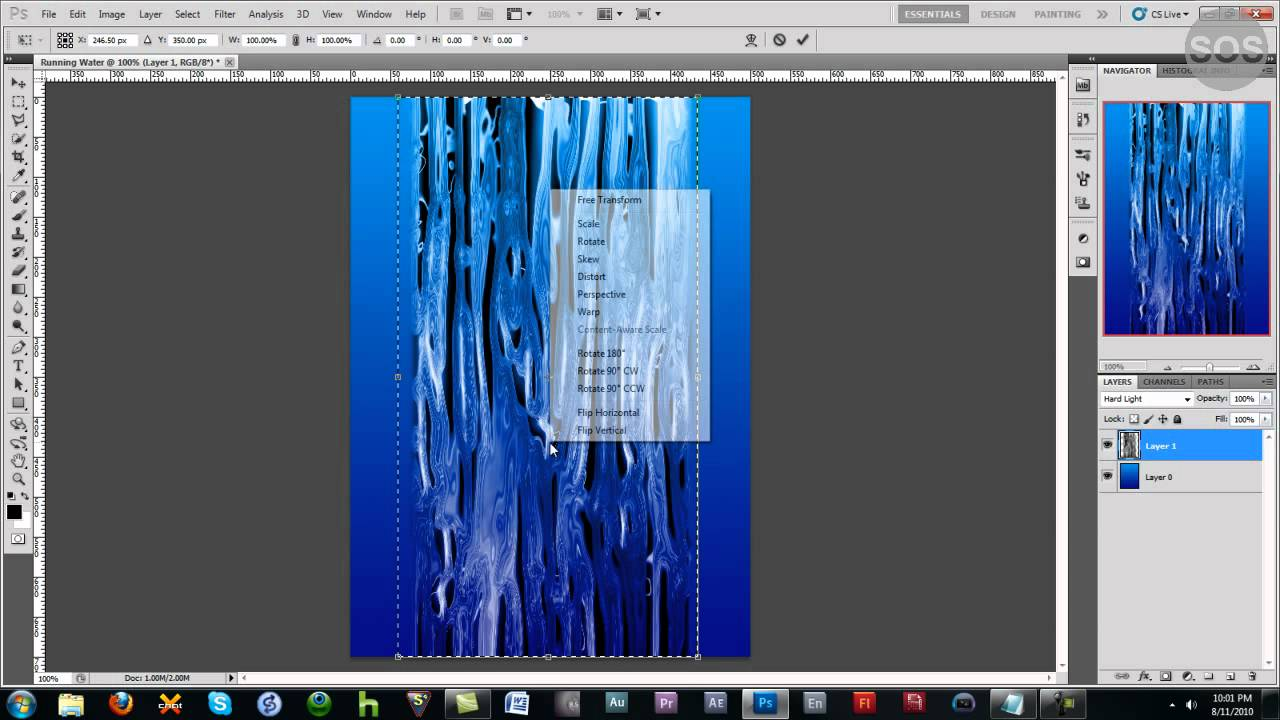How to Create realistic water flowing in Photoshop ...