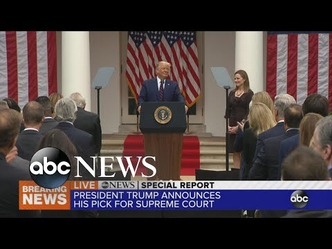 President Trump announces Supreme Court nominee
