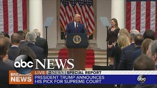 President Trump announces Supreme Court nominee