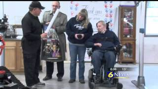 Trooper Wilson Receives State-of-the-art Wheelchair%