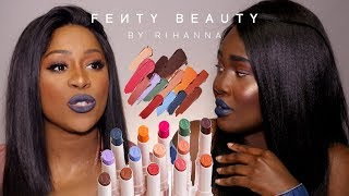 FENTY BEAUTY ITALIA LIPSTICK SWATCH ON DARK SKIN - RECENSIONE SEPHORA WITH MY BESTIE