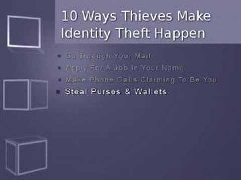 How Thieves Make Iden Theft Happen