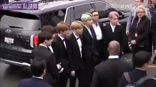 BTS appeared at the Grammy red carpet