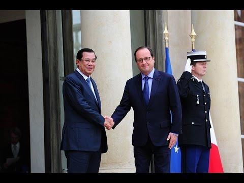 Hun Sen Prime minister of Kingdom of Cambodia in French Republic, 24 28 October 2015 TVK