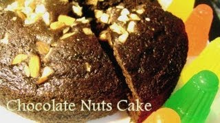 Chocolate Nuts Cake In Cooker - Hindi With Eng Subtitles  कुकर  केक(हिंदी)