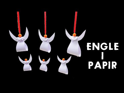 Paper Angel Tutorial | Paper Anger for Christmas Tree linascraftclub
