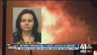 Kansas City woman charged in deaths of firefighters Larry Leggio and John Mesh