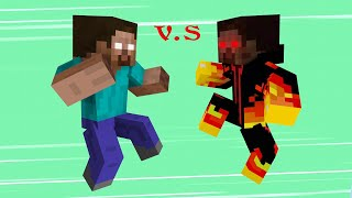 Monster School vs Bad Guys : Hidden Boss 1 - Epic Fight Minecraft Animation