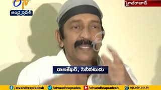 Tollywood Actor Dr Rajashekar On | Escapes with Minor Injuries | in a Road Mishap