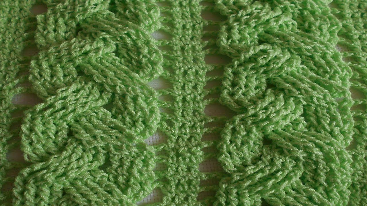 Trenza en crochet primaveral de tres - ideal para blusas, sueter ...