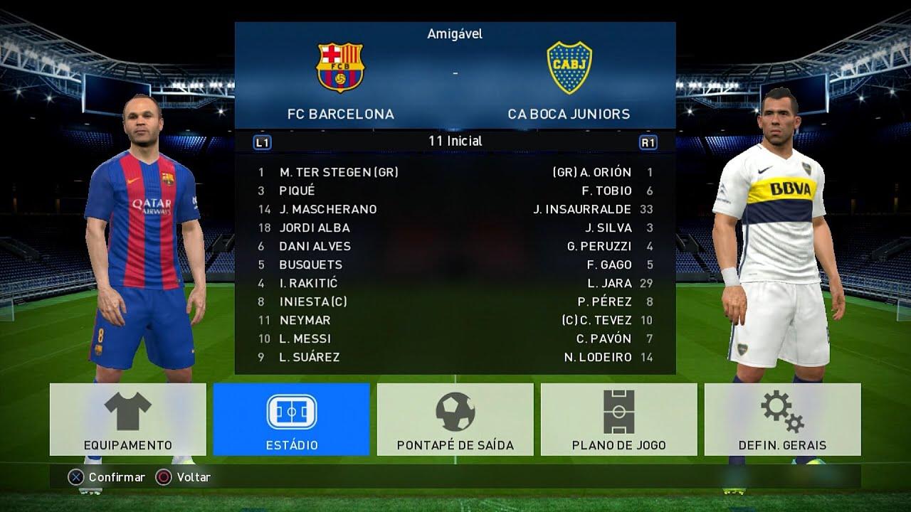 PES 2017 DEMO GAMEPLAY - Barcelona vs Boca Juniors - Primeiras impressões (antiga geração PS3 ...