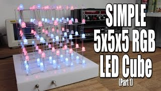 Make your own SIMPLE 5x5x5 RGB LED Cube (Part 1)(Previous video: https://youtu.be/7w5I-KbJ1Sg Part 2: https://youtu.be/R-arZ31-zJo Facebook: https://www.facebook.com/greatscottlab Twitter: ..., 2015-10-25T16:00:42.000Z)
