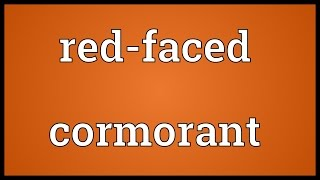 Red-faced cormorant Meaning