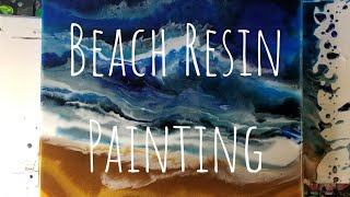 Creating a Beach Painting with Resin