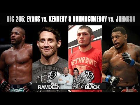 UFC 205 Preview: Rashad Evans vs. Tim Kennedy, Khabib Nurmagomedov vs. Michael Johnson on 5 Rounds