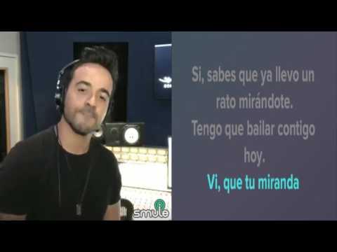 Karaoke despacito con Luis fonsi